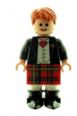Scottish Wedding Groom Best Man Figure in Red Kilt - Custom Designed Minifigure